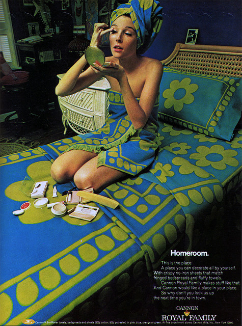 home decor in the 1960s 60s ad for mod sheets towels vintage home decor ad 11 of 31