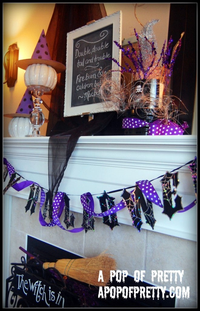 Fun Halloween Mantel Decor