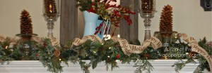 Christmas Mantel ribbon