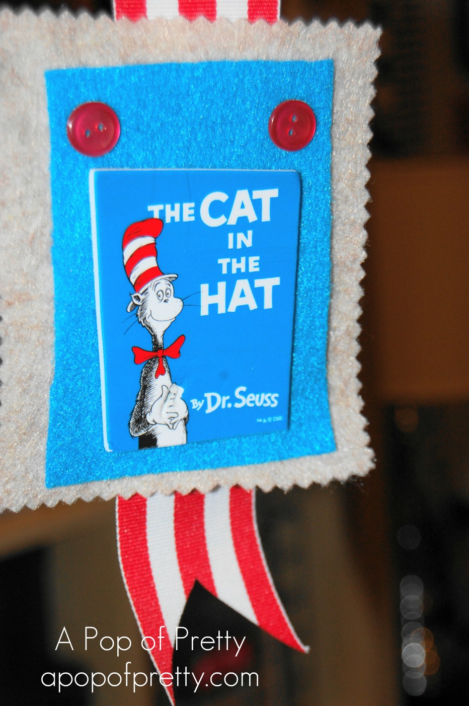 Dr Seuss Cat in the Hat Christmas Ornament