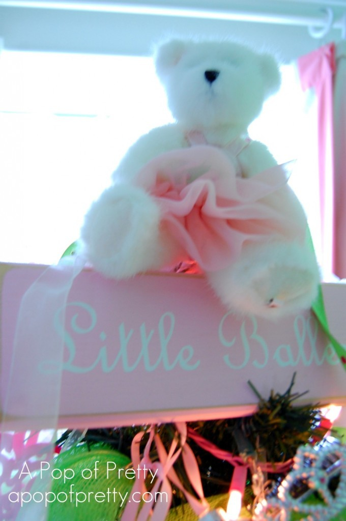 Decorate Christmas Tree for little girl