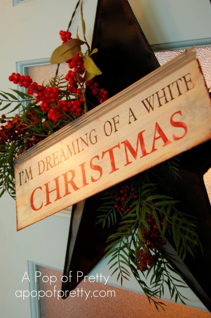 Christmas Door Decor: Red & Turquoise