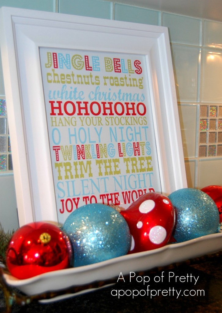 Free Christmas Printable - Subway Art