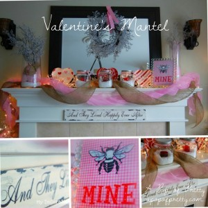 Mantel Collage - Valentines Day
