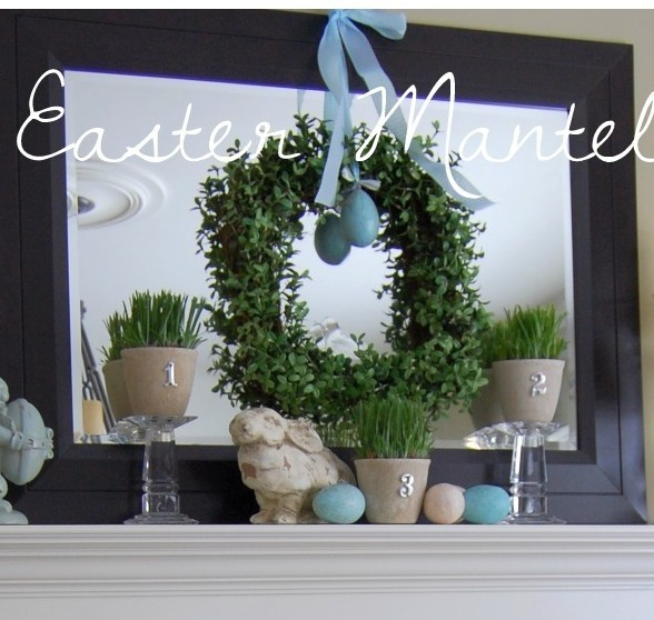 Mantel collage - Easter
