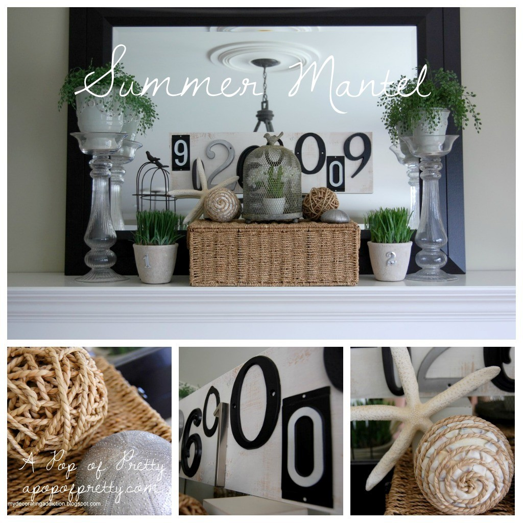 Mantel collage Summer A Pop of Pretty Blog Canadian