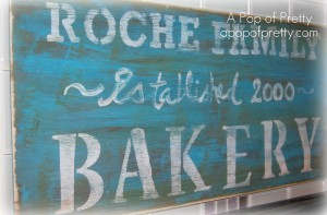 Distressed vintage Bakery Sign