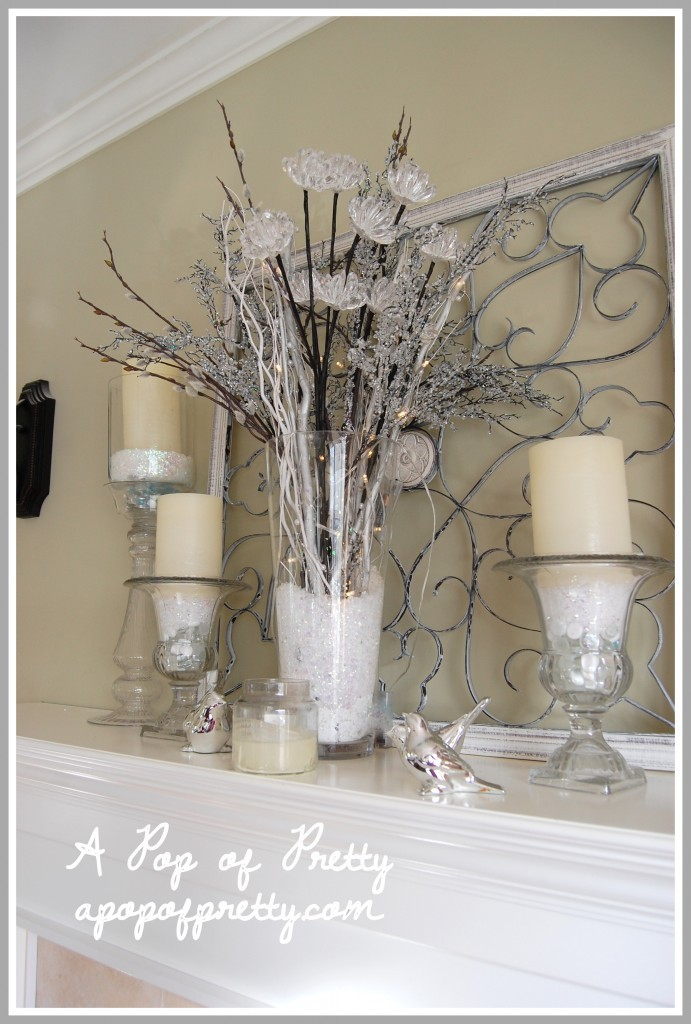 Winter Mantel Decor My Decorated For Winter A