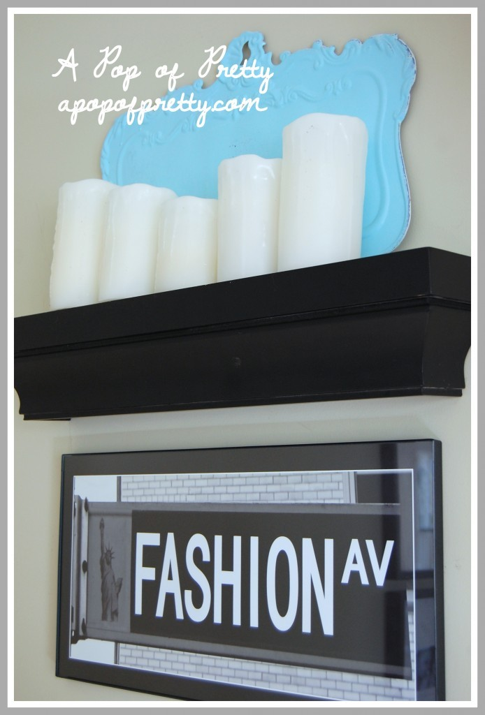 Winter Mantel Decor: My mantel decorated for winter! | A Pop of ...