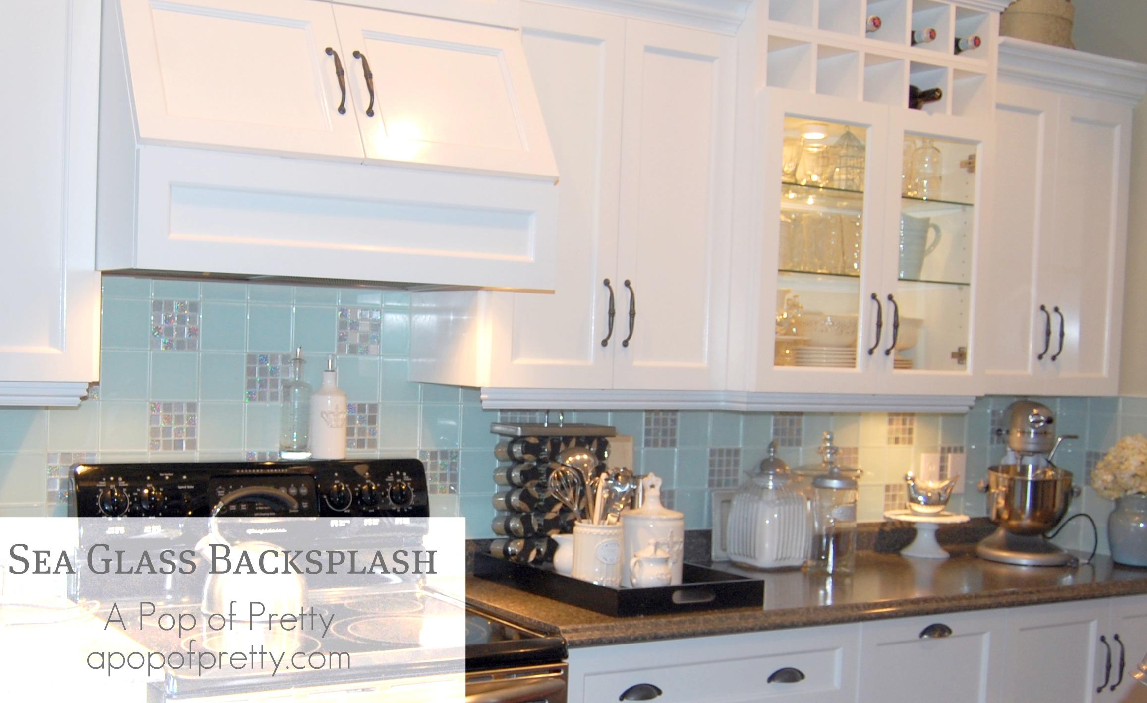 sea glass backsplash home pinterest