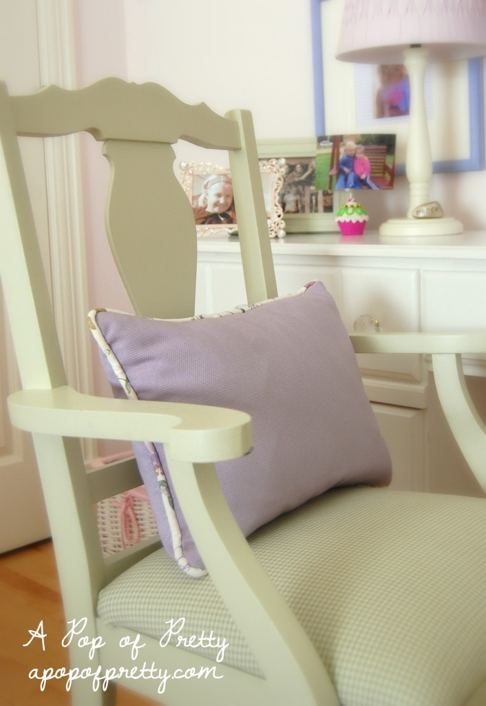 upcycled chair for little girl room