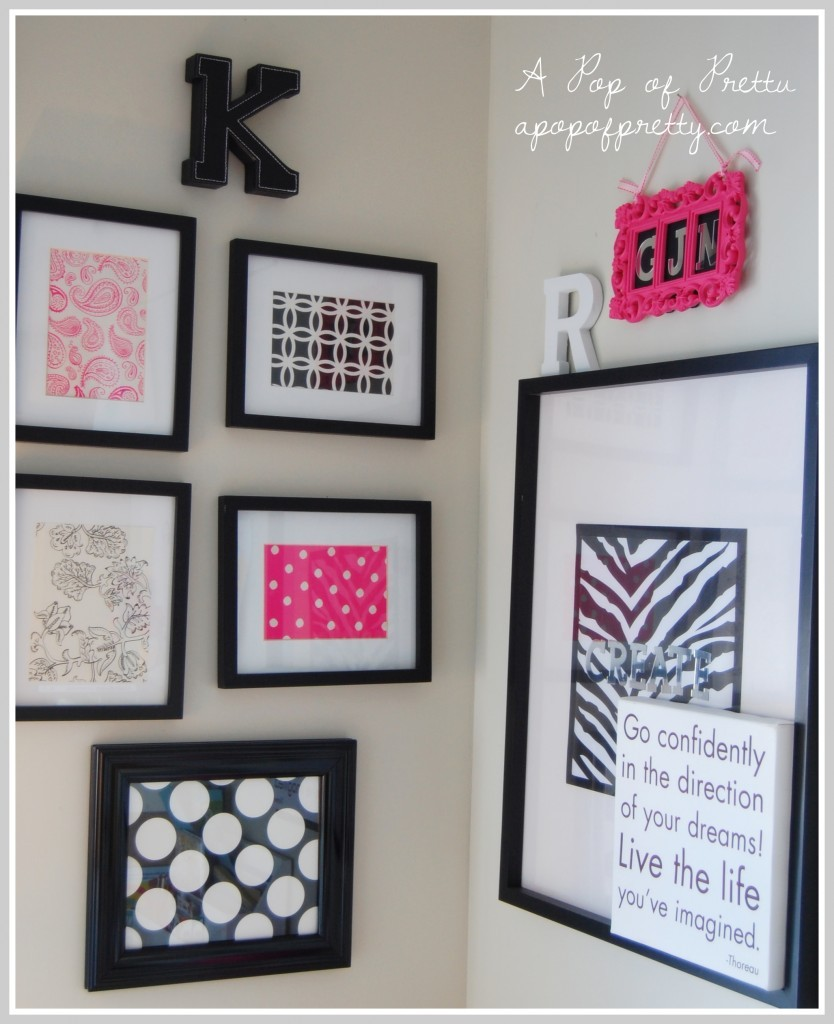 Wall Decor With Scrapbook Paper : How to seasonally decorate with framed scrapbook paper a