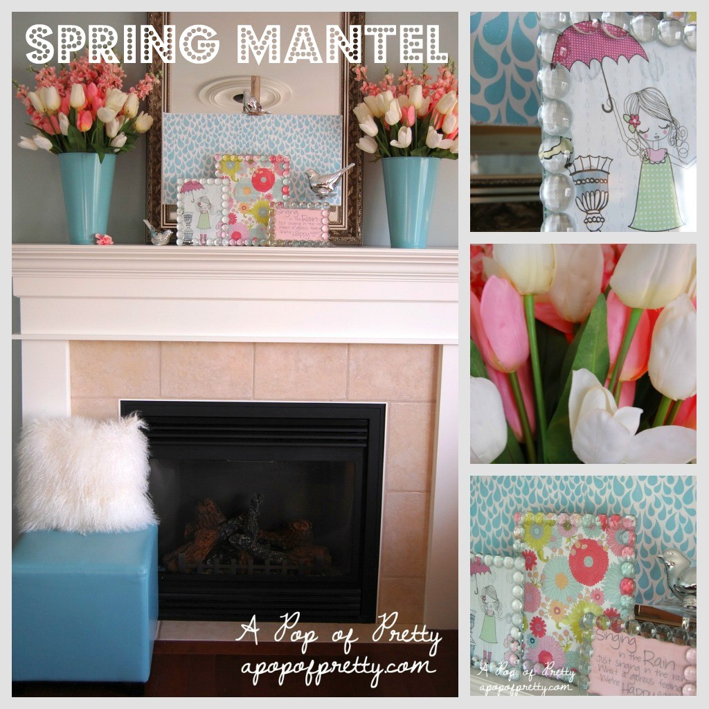 Easter decorating ideas - Easter mantel 2