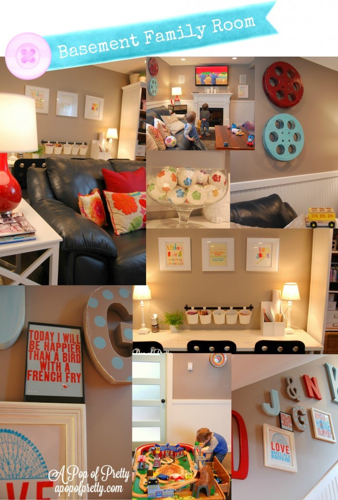 Basement Decorating Ideas Small Room Edits A Pop Of
