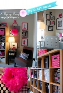Craft Room - Pink, Black and White - A Pop of Pretty