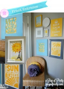 Front Entrance Gallery Wall - A Pop of Pretty