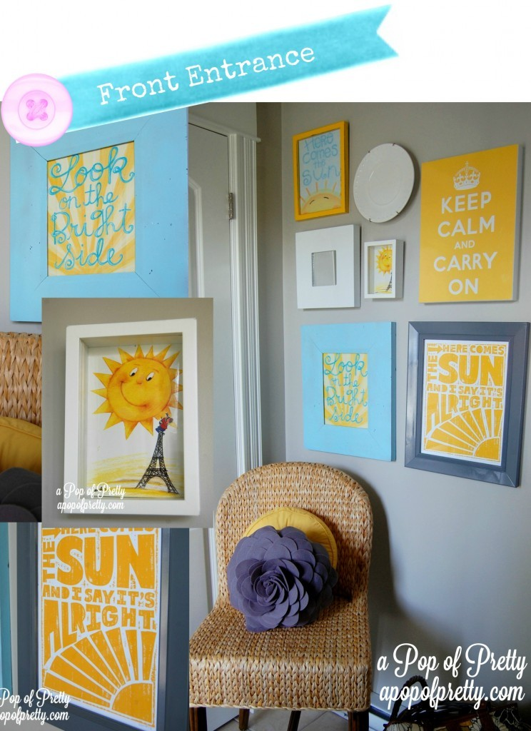 Decorating Front Entrance Gallery Wall - Sunshine Wall Art