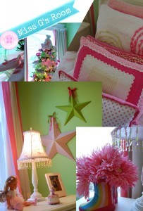 Pink and Green Ballerina Girls Room - A Pop of Pretty