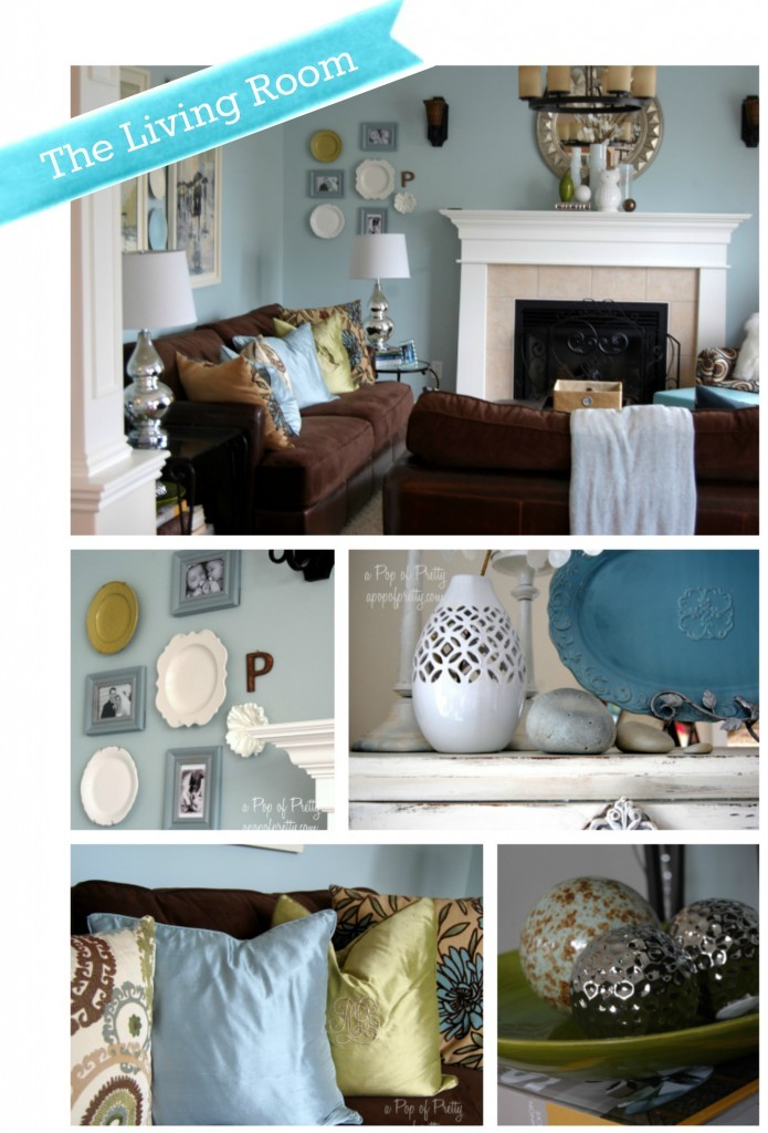 Decorating Modern Cottage Living Room - Woodlawn Blue