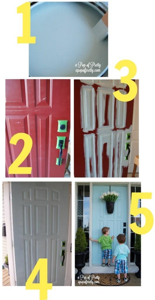 how to paint a front door - tutorial