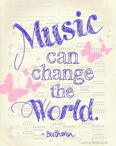 Music can change the world - apopofprettydotcom - free printable