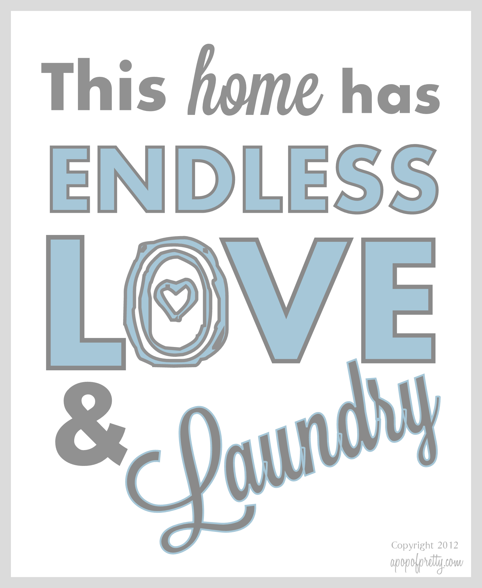 Free Laundry Printable
