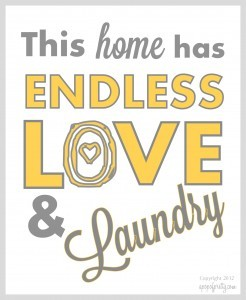 Free Printable-Yellow-Love and laundry-apopofprettydotcom