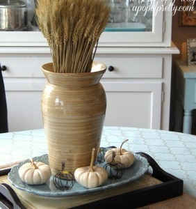 Decorate for Fall with white pumpkins
