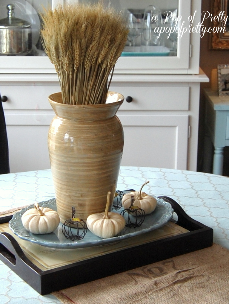 Fall Decorating with wheat