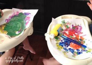toddler painting
