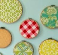 (W)hoop (W)hoop! Embroidery Hoops as Wall Art (Idea #7)