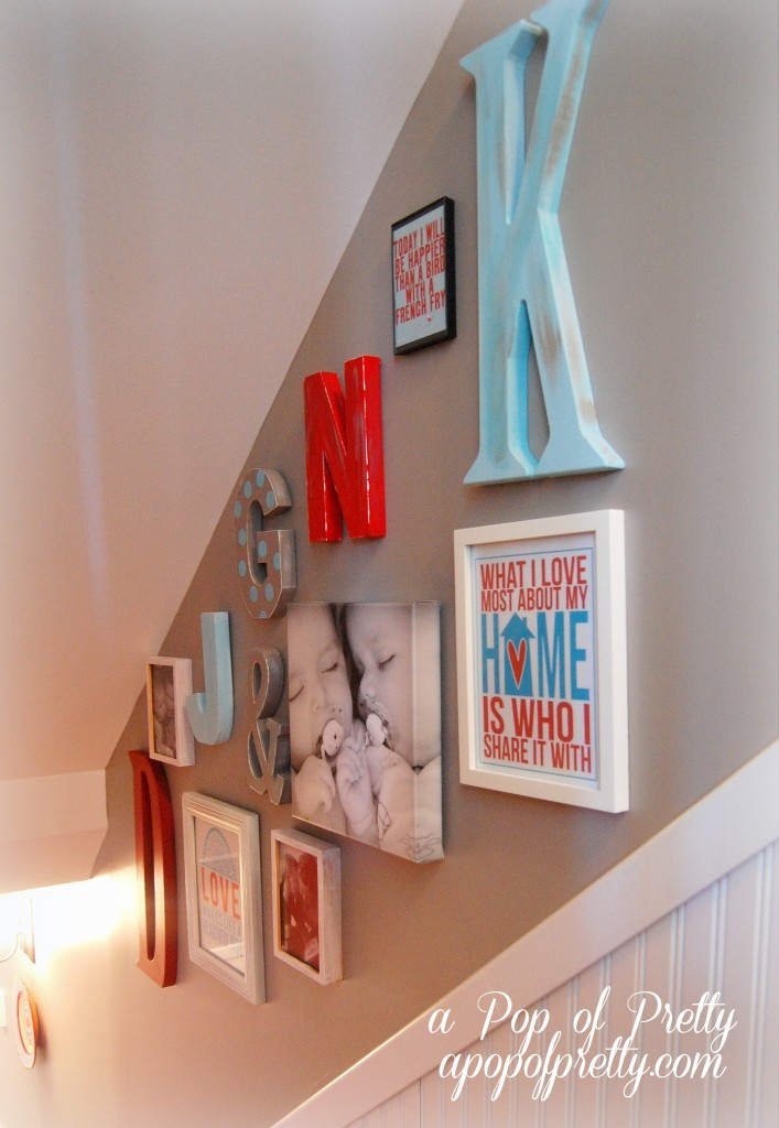 An 39 Alphabet Soup 39 Of Diy Wall Decor Ideas A Pop Of Pretty Blog Canadian Home Decorating