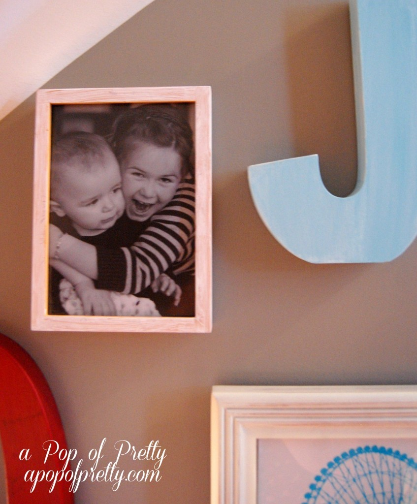 diy alphabet gallery wall
