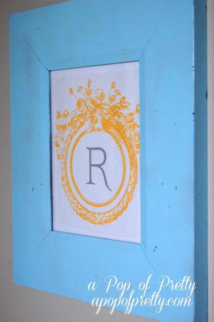 Monogram Wall Decor Diy : Diy wall art idea free printable family monogram a