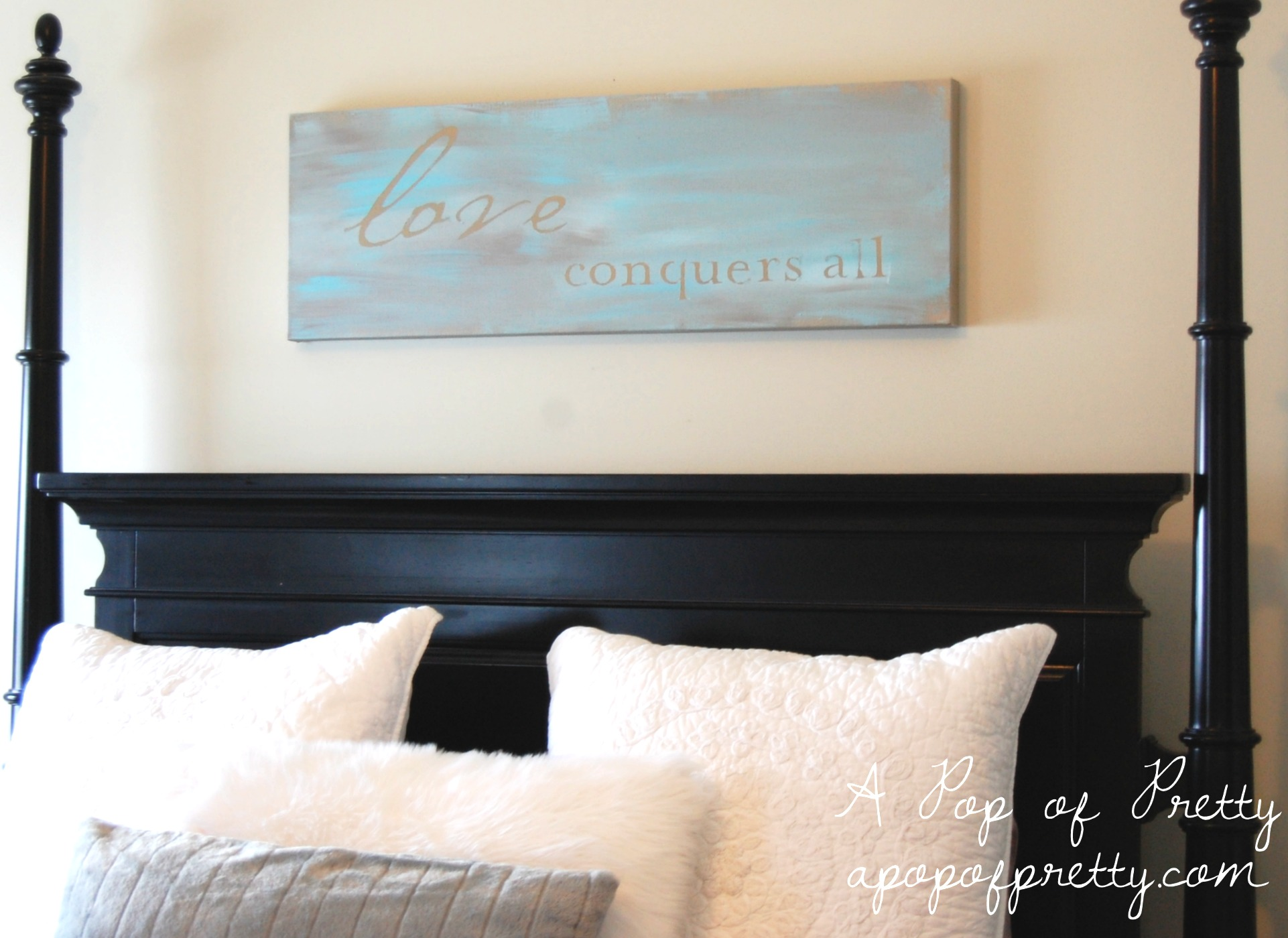 Diy Wall Art Painted Canvas A Pop Of Pretty Blog