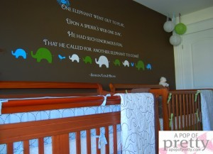 Twin Boy Nursery Decor - Custom Wall Quote