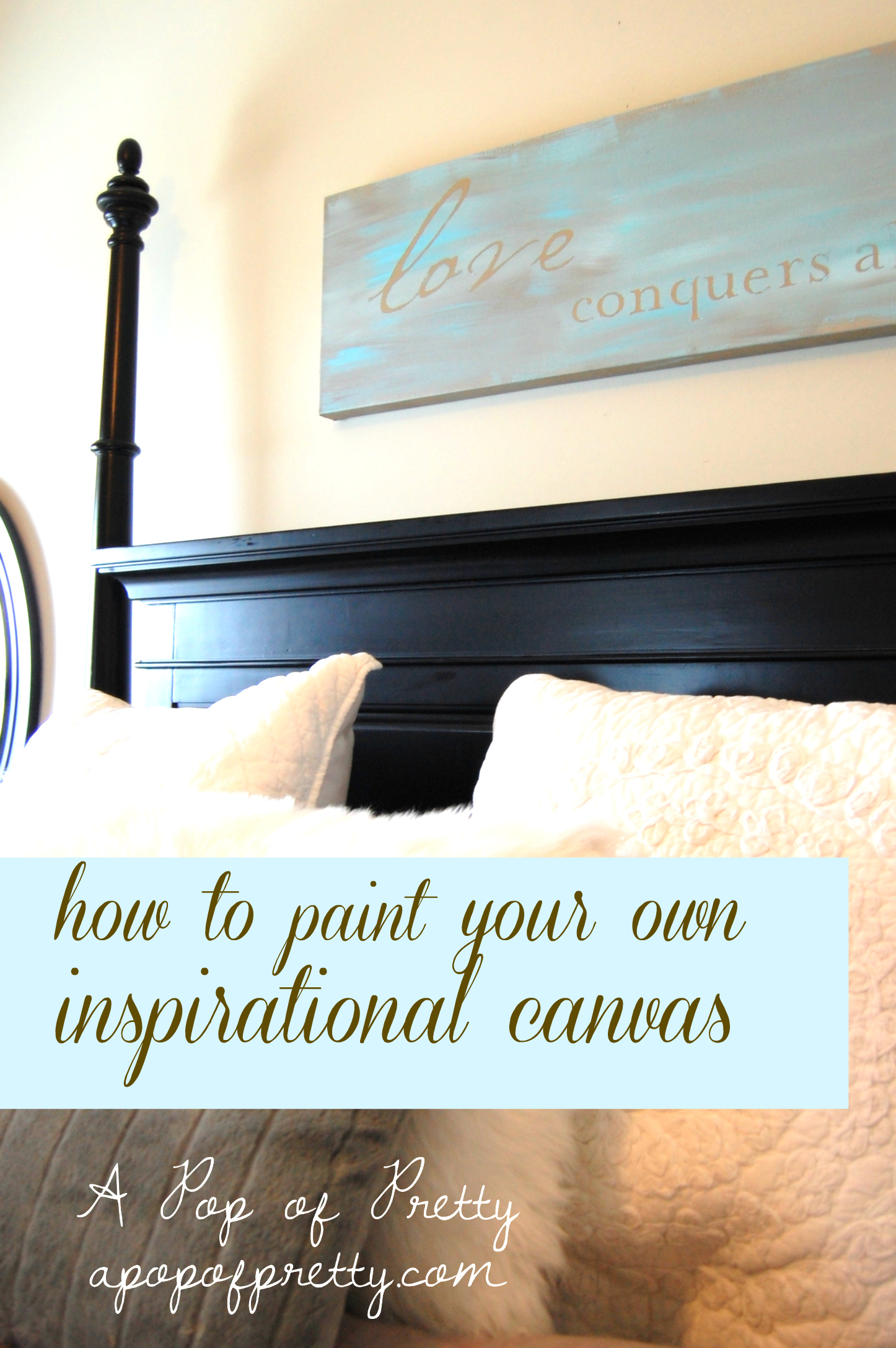 diy wall decor inspirational canvas A Pop of Pretty Blog