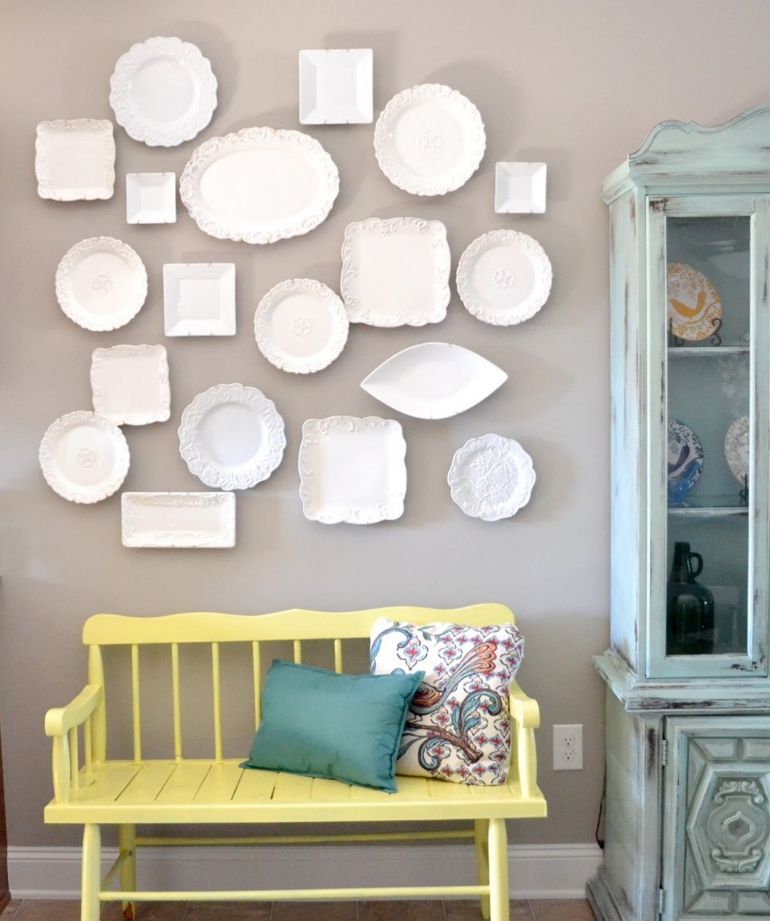 decorative plate wall liz marie blog