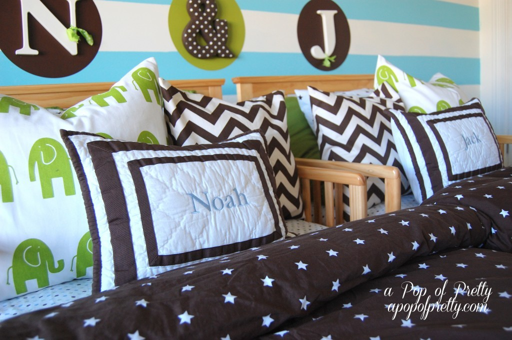 Room Makeover: Twin Boy Nursery to Toddler Room | A Pop of Pretty ...