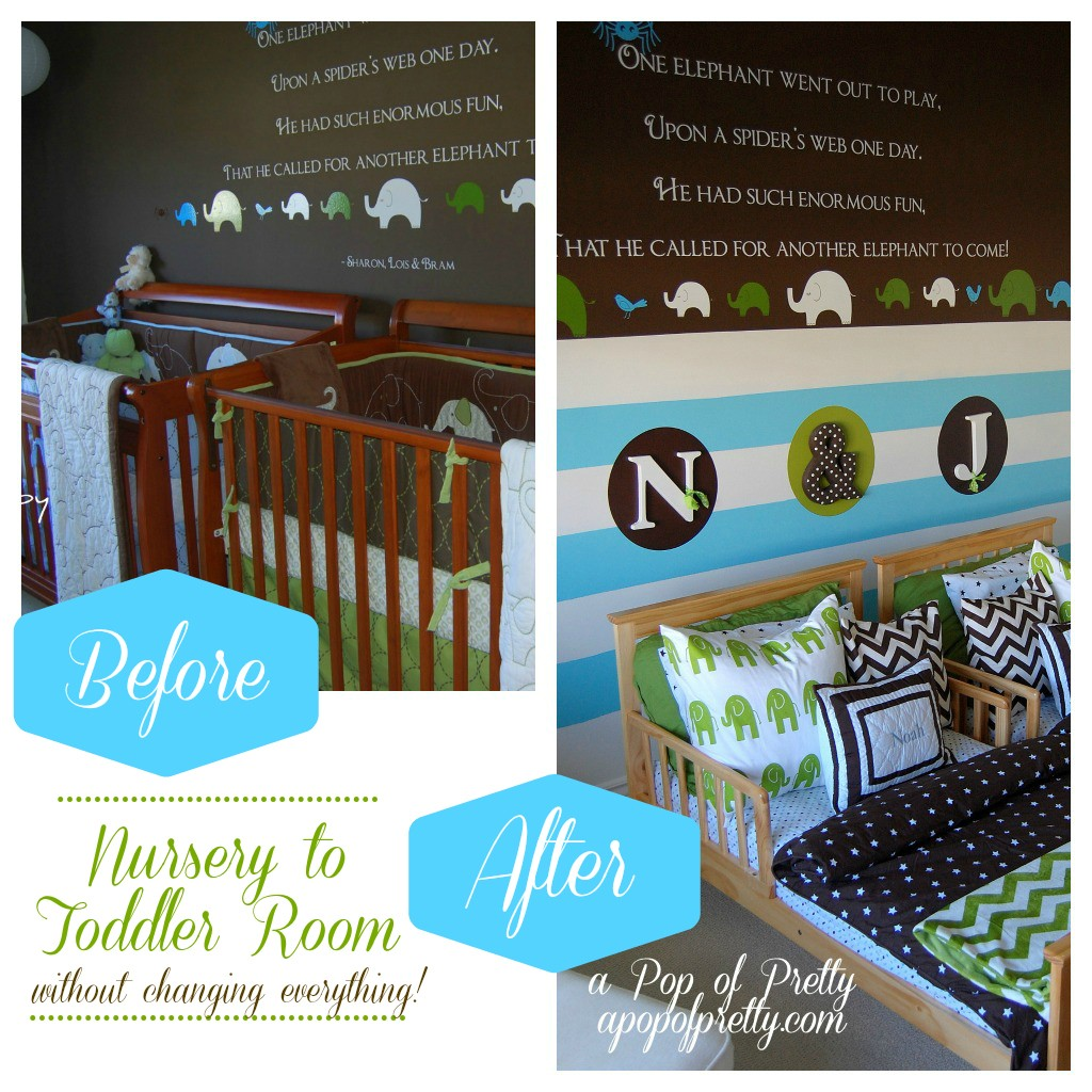 Twin boy toddler room decor