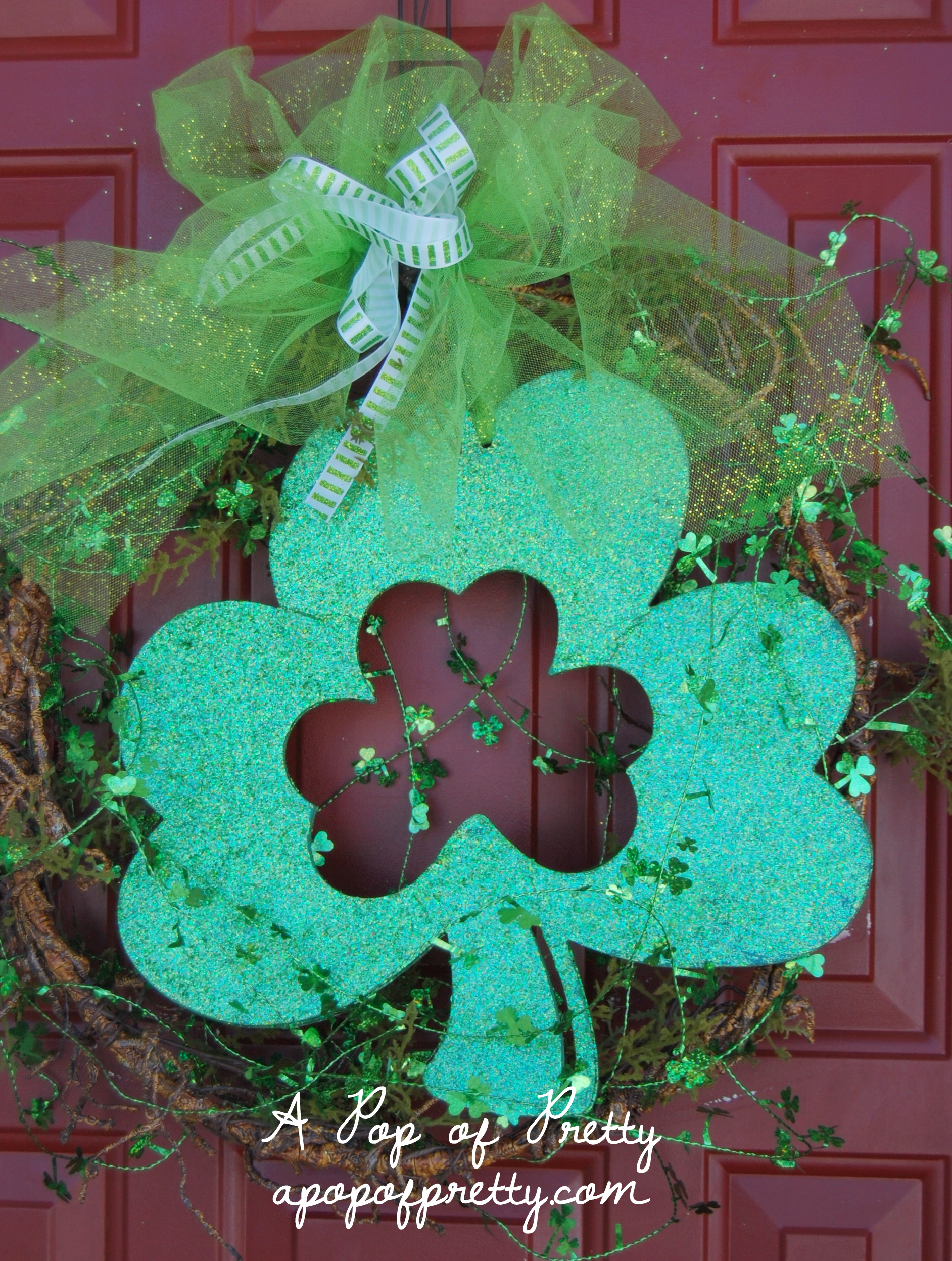 DIY St. Patricks Day Wreath