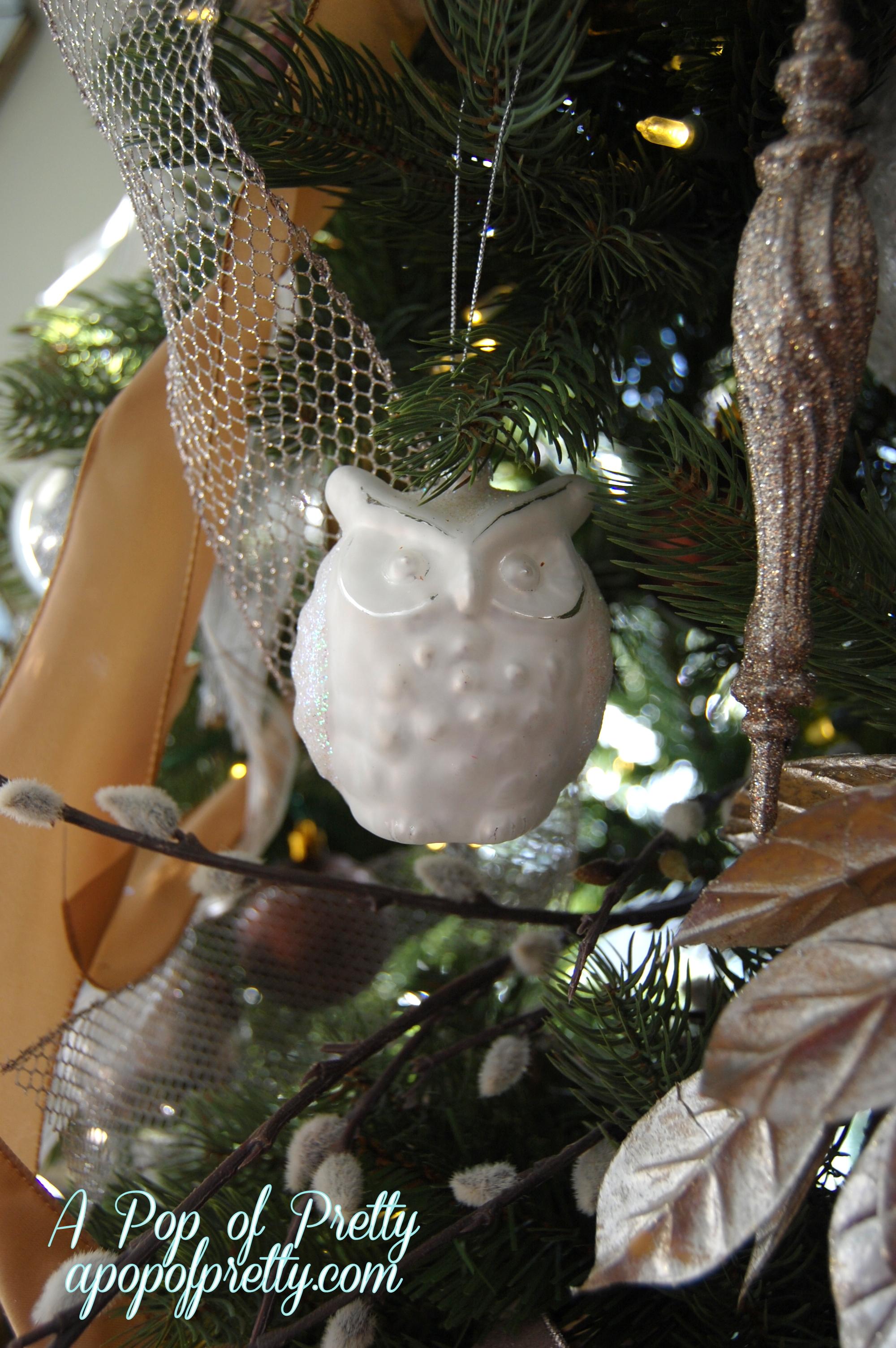 Owl Christmas tree decor - A Pop of Pretty: Canadian Decorating Blog ...