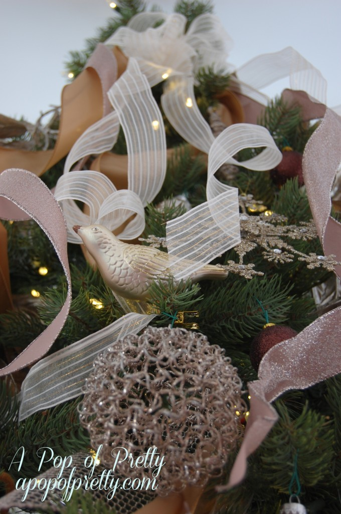 How to add ribbon to a Christmas tree