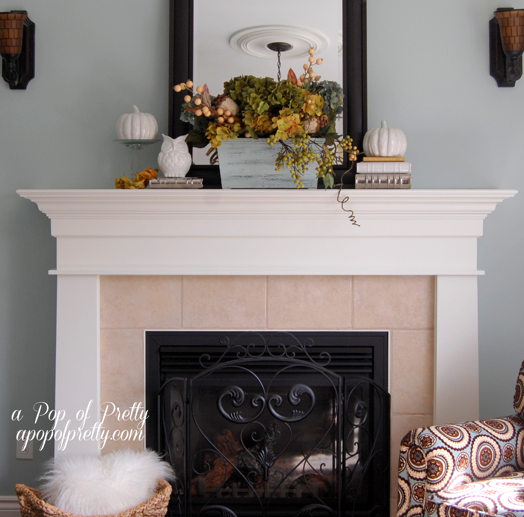 Mantel Decor Ideas Delectable With Fall Mantel Decorating Ideas Image