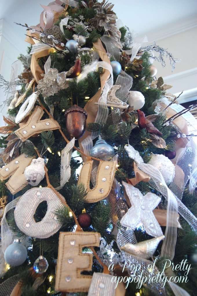 Neutral Christmas tree decorating