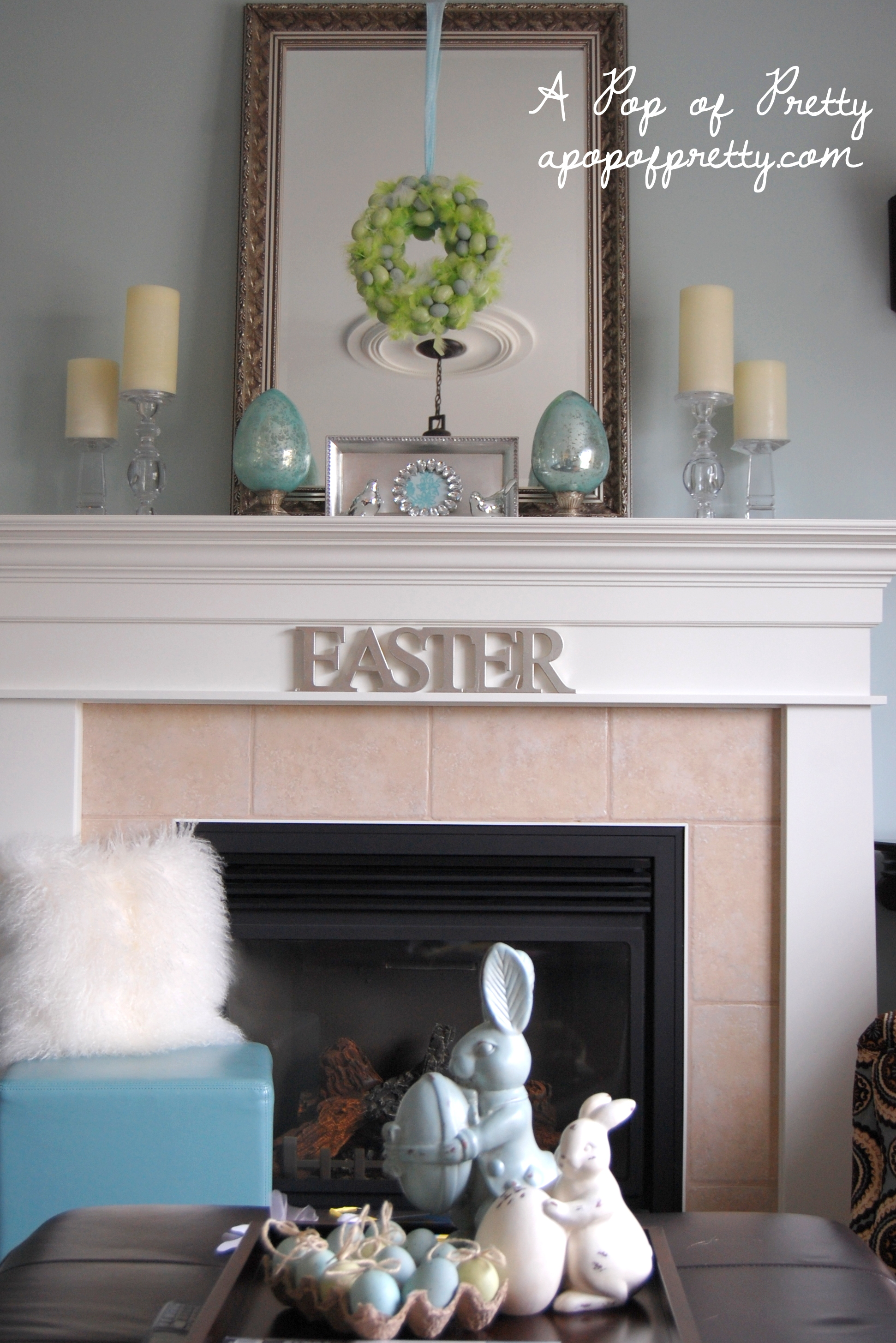 Mantel Decorating Ideas For The Holidays: A Pop Of Pretty Blog (Canadian Home