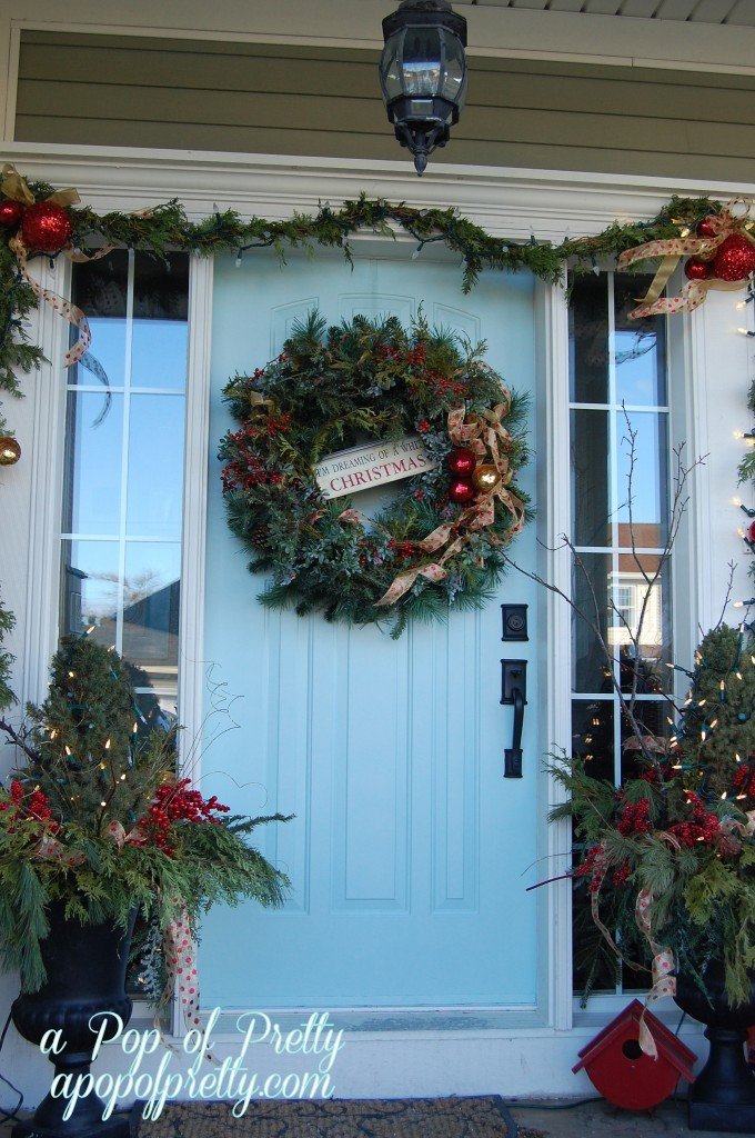 Front Porch Traditional Christmas Decor