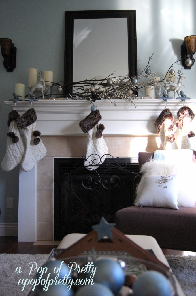 Christmas Winter Mantel