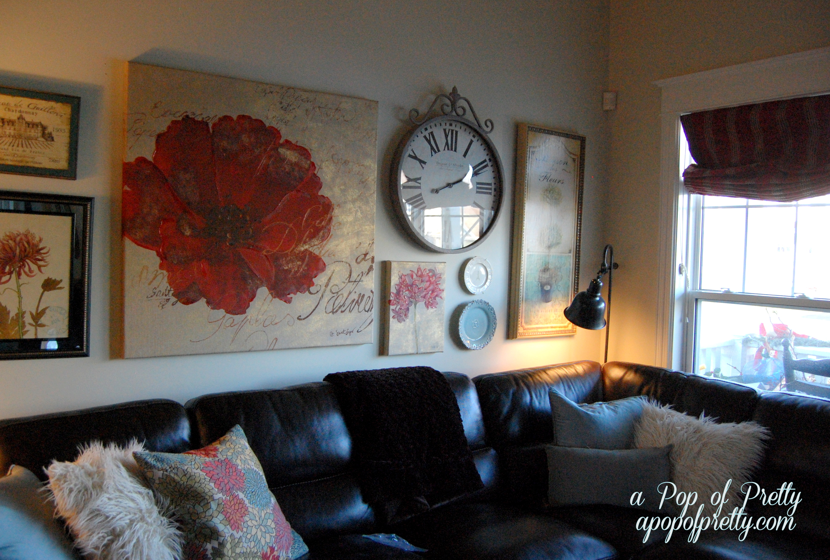 Wall Decor With Leather Furniture : Beauty the beast decorating with a sectional sofa
