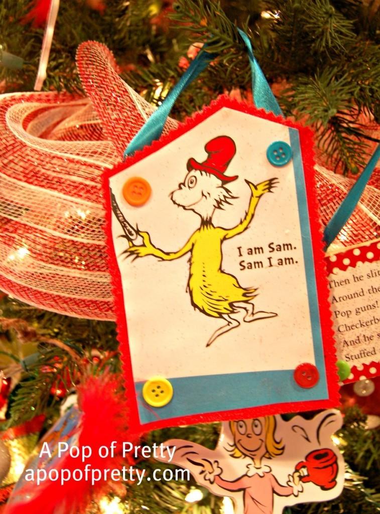 Green Eggs and Ham Christmas Tree Decoration